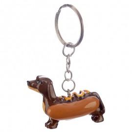 Hot-Dog tacskós kulcstartó