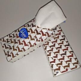 Tacsi mintás papírzsebkendő tartó