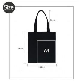 Tacsi mintás fekete vászon táska