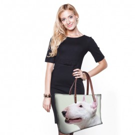 Nagyméretű tacsis női táska - fehér
