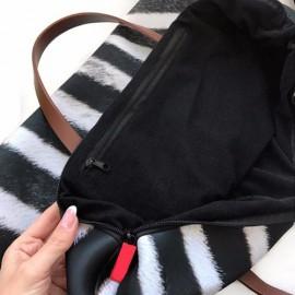 Nagyméretű tacsis női táska fekete-cser tacskóval