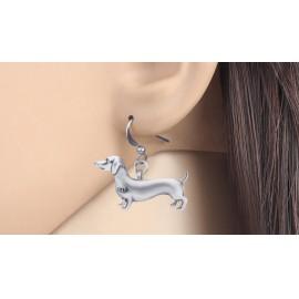 Ezüst színű tacsis fülbevaló