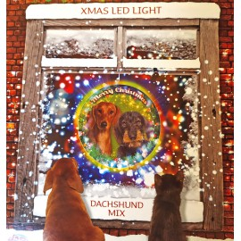 Tacsi mintás világító karácsonyi ablakdísz